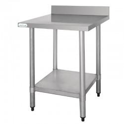 Vogue - Table de travail en acier inoxydable profondeur 600 mm