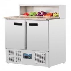 Polar - Comptoir de préparation réfrigéré à pizzas 288 litres