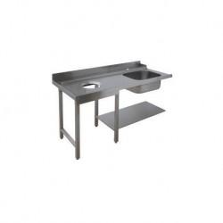 Krupps - Table d'entrée avec bac et trou vide ordure à gauche