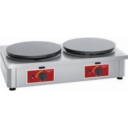Electrobroche - Crêpière double gaz de 40 cm