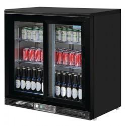 Polar - Arrière bar noir 2 portes 182 bouteilles