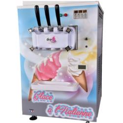 Gris - Machine à glace de comptoir 2 parfums