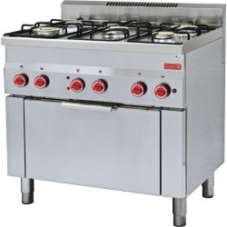 Gastro M - Fourneau gaz sur four à convection GN 1/1 60/90CFGE