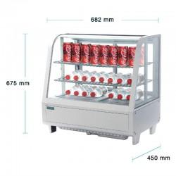 Polar - Vitrine réfrigérée de comptoir 100 litres Blanche