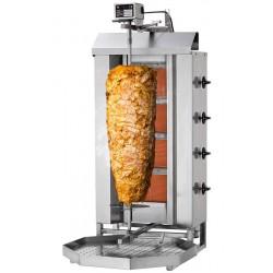 Gril kebab gaz 3 brûleurs / 40 kg