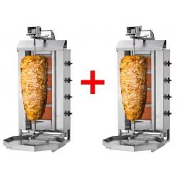 Gril kebab gaz 4 brûleurs / 60 kg