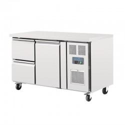 Polar - Table réfrigérée positive avec 2 tiroirs