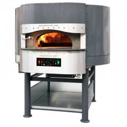 Morello Forni - FOUR ROTATIF HYBRIDE À BOISGAZ 6 pizzas finition standard