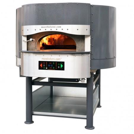 Morello Forni - FOUR ROTATIF HYBRIDE À BOIS/GAZ 6 pizzas finition standard