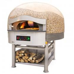 Morello Forni - FOUR ROTATIF HYBRIDE À BOISGAZ 6 pizzas finition coupole Mosaïque