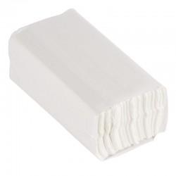 Essuie-mains 2 plis pliage en C 100 feuilles blanc Jantex