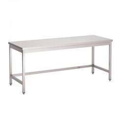 Gastro M - Table inox sans étagère basse de 1000 x 700 mm
