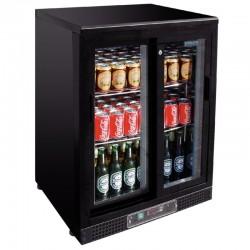 Polar - Arrière bar noir 2 portes 140 bouteilles
