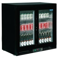 Polar - Arrière bar noir 2 portes 168 bouteilles