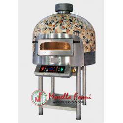 Morello Forni - FOUR ROTATIF électrique 6 pizzas finition coupole Mosaïque