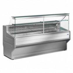 Diamond - Comptoir vitrine réfrigéré à vitre droite 90°, avec réserve