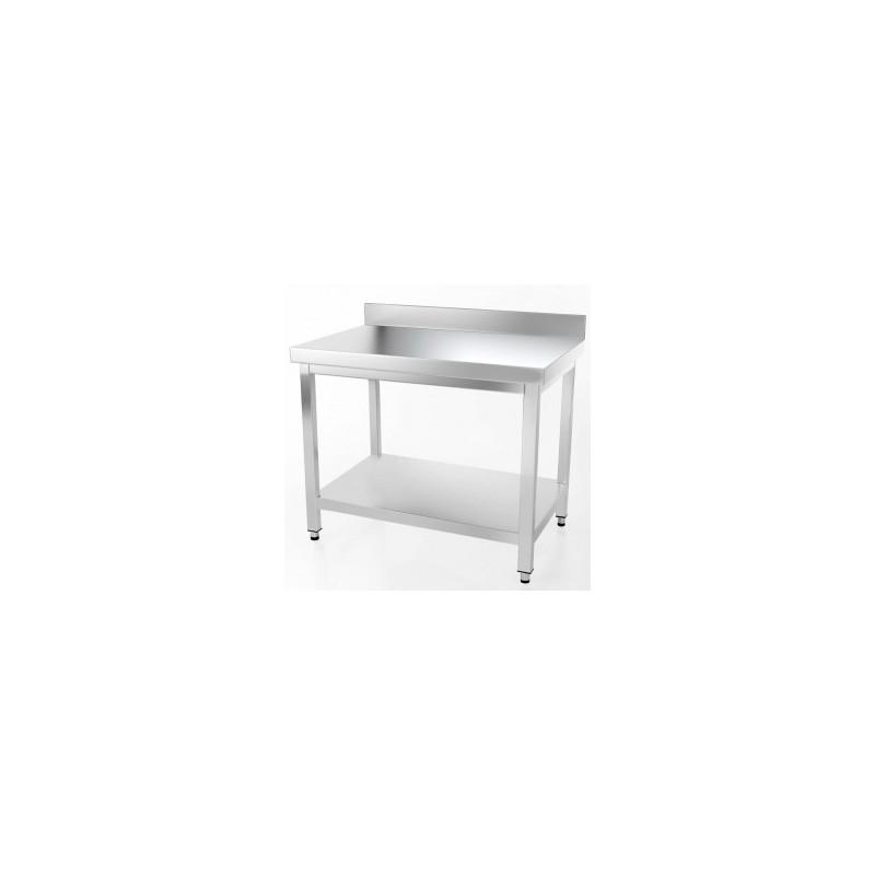 Le Shopping du Chef - Table en acier inoxydable de 500 x 600 mm avec dosseret