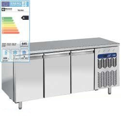 Diamond - Table frigorifique, ventilée, 3 portes GN 1/1