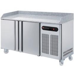 Technitalia - Table de préparation à pizza 2 portes 600 x 400 mm