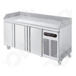 Technitalia - Table de préparation à pizza 3 portes 600 x 400 mm