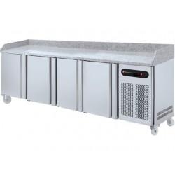 Technitalia - Table de préparation à pizza 4 portes 600 x 400 mm