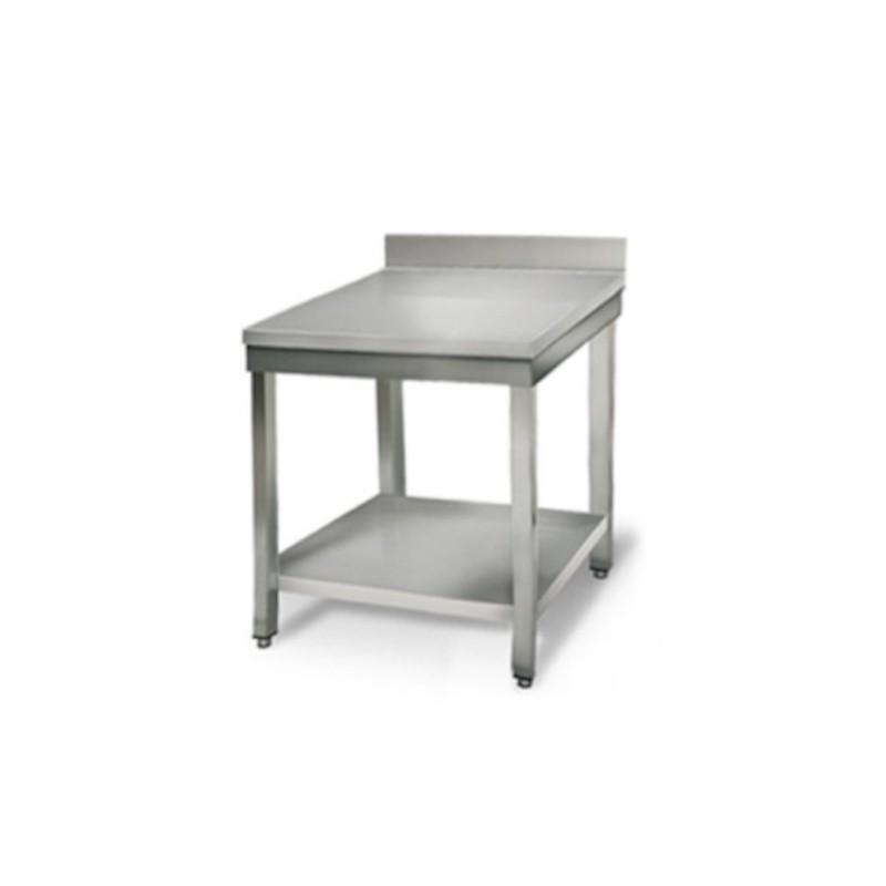 Le Shopping du Chef - Table en acier inoxydable de 500 x 600 mm sans dosseret