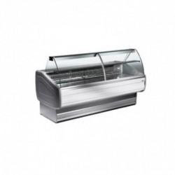 Diamond - Comptoir vitrine réfrigéré à vitre bombée, ventilé, avec réserve