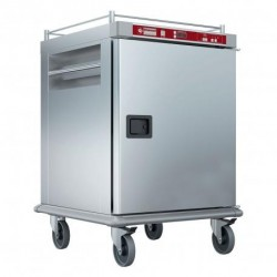 Diamond - Chariot chauffant pour repas, 10 GN 2/1, humidification contrôlée