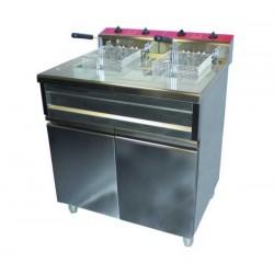 Electrobroche - Friteuse électrique Fryt'co 2 x 12 litres sur coffre
