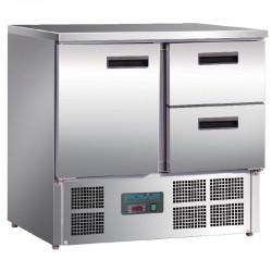 Polar - Table réfrigérée 1 porte et 2 tiroirs