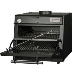 Diamond - Four-BBQ à charbon, GN 1/1 (60 Kg/h)/Noir