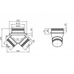 Bartscher - Manchon pour hottes 900 et 1000 mm