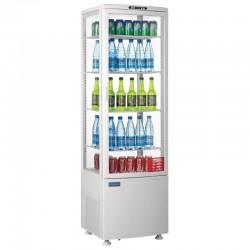Polar - Vitrine réfrigérée porte incurvée 235 litres blanche CB509
