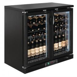 Polar - Cave à vin horizontale portes pivotantes 56 bouteilles