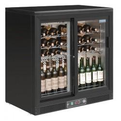 Polar - Cave à vin horizontale portes coulissantes 56 bouteilles