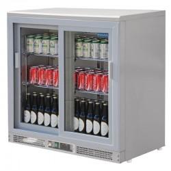 Polar - Arrière-bar gris métal 180 bouteilles