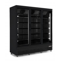 Combisteel - Vitrine réfrigérée positive 3 portes vitrées noire