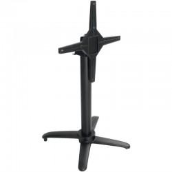 Bolero - Pied de table basculant en aluminium noir