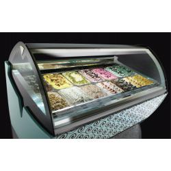 Vitrine à crèmes glacées de 1193 mm avec groupe semi-hermétique tropicalisée - FB Style