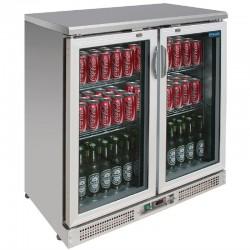 Arrière-bar 2 portes 180 bouteilles Polar