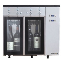 Distributeur à vin au verre 4 bouteilles - Le Shopping du chef