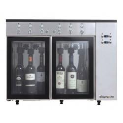 Distributeur à vin au verre 6 bouteilles - Le Shopping du chef