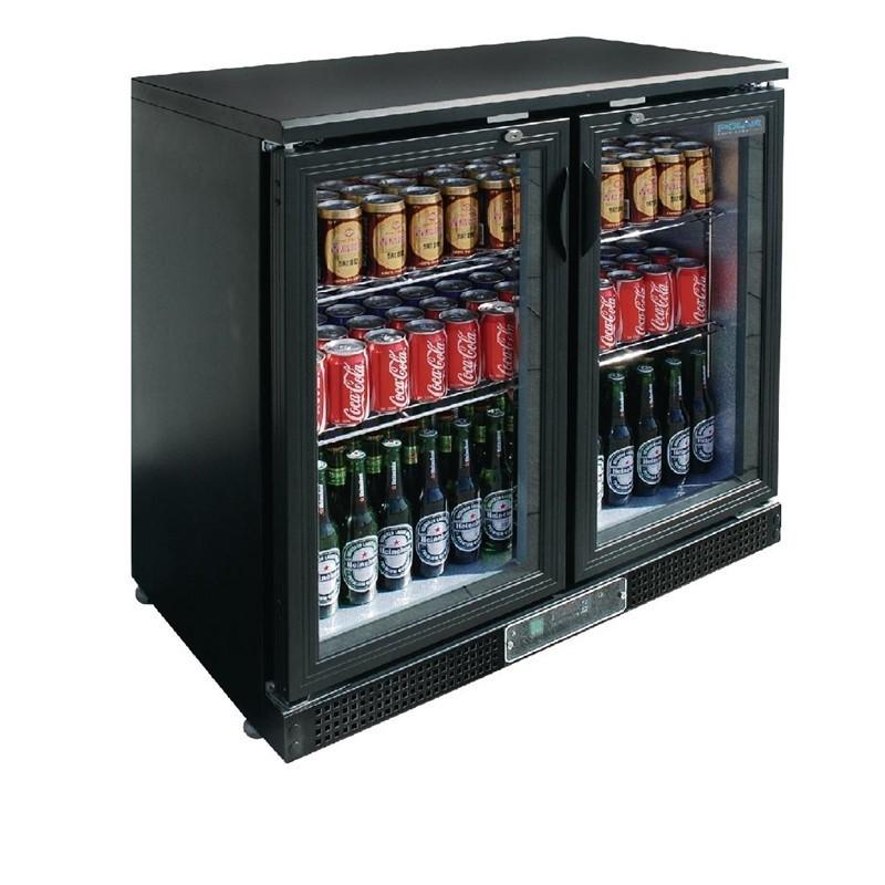 Arrière-bar 2 portes pivotantes 182 bouteilles Polar