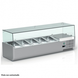 Vitrine réfrigérée pour 9 bacs 1/3 de 150 mm - CRX200