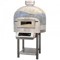 Morello Forni - FOUR ROTATIF électrique 9 pizzas finition coupole Mosaïque cuivre CB V