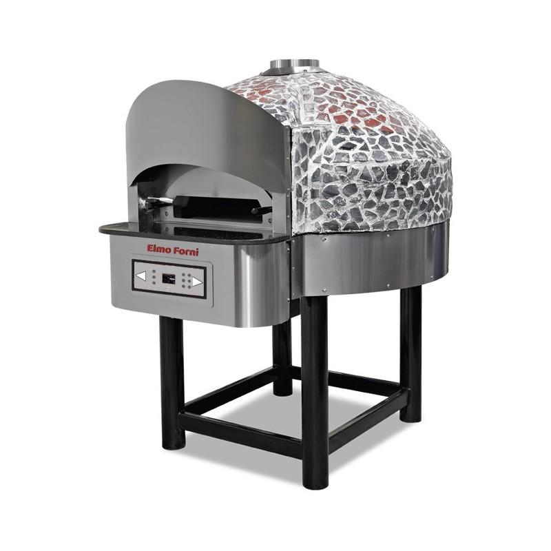 Four gaz à pizza rotatif 6 pizzas - Elmo Forni