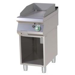 RM Gastro - Plancha gaz simple chromée sur monobloc ouvert
