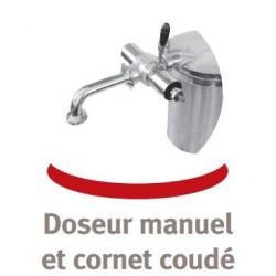 Cornet coudé pour poussoir
