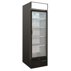 Réfrigérateur noir avec porte en verre- Combisteel