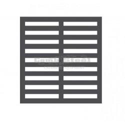 Set de grille et clips pour vitrine Combisteel 7450.0135